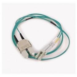 FT LC - SC Duplex OM3 Fiber Assembly, 5M, Aqua