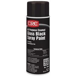 All Purpose Enamel Spray Paint-Gloss Black, 10 Wt Oz