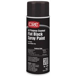 All Purpose Enamel Spray Paint-Flat Black, 10 Wt Oz