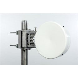 0.2 m | 0.67 ft ValuLine High Performance Low Profile Antenna, single-polarized, 21.200-23.600 GHz, PBR220, white antenna, polymer white radome without flash, standard pack - one-piece reflector