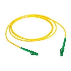 Fiber Optic Patch Cord, Single-mode, 1.2 mm OFNP Jacket, LC/APC-LC/APC, 9 M, Yellow
