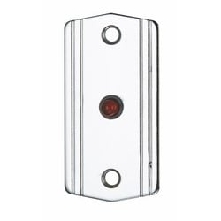 Red LED, 12 Or 24 V DC, Chrome Plated Brass Mini-plate