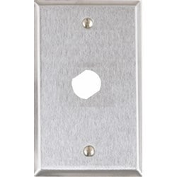 """Single Gang Stainless Steel Wall Plate With 3/4"""" Double """"D"""" Hole For Medeco Lock"""