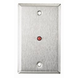 """Single Gang Stainless Steel Wall Plate With 1/4"""" Red LED"""