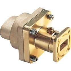 Fixed-tuned WR75 Pressurizable Cover Flange for elliptical waveguide 90