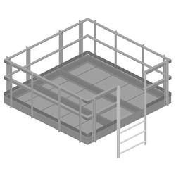Handrail Kit for 10 ft x 10 ft equipment platform