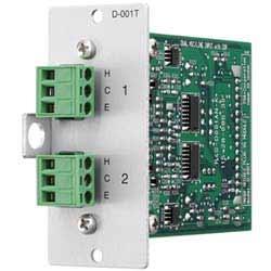 Module d'entrée double micro/ligne avec DSP, bornier amovible