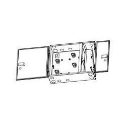 Produits de fibre de Distribution optique; FO Distribution Type de produit : Montage mural boîtier type de montage : mural Patch/jonction boîtier Type accepte : plaques adaptatrices, Cassettes et plateaux d'épissure ne pas préchargés