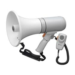 Handheld megaphone with detachable mic, 23 W