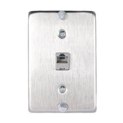 1 PORT FLUSH MOUNT LOADED SGL GANG 8W8P 110 WITH MNTG LUGS 104206701 ST. STEEL