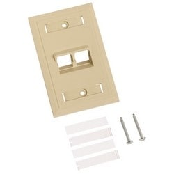 Angled Specialty Faceplate, ivory