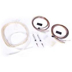 2 x 12 fibre Breakout Kit, à l'extérieur des installations de câbles, Gel bloquant, PVC, Compatible avec les connecteurs ST, SC et LC assortie, LC