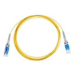 Fiber Optic Uniboot Patch Cord, Duplex, LC/UPC, Single-mode, G657A1, LSZH, 2 M