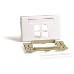 M4CA Type Adjustable Furniture Faceplate, White