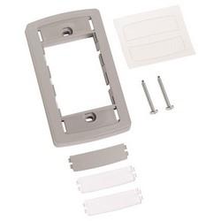 Faceplate, FP Type, Flexible Frame, Gray