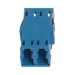 LC Duplex Keyed Adapter, Blue, Single Pack