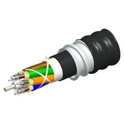 Fiber Cable, Indoor/Outdoor Plenum Distribution, Interlocking Aluminum Armored, Plenum Jacket, 12 Fiber Single-Unit, Teraspeed OS2 Single-Mode