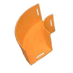 Speedpro Horizontal Elbow, 90, 100mm x 100mm (4in x 4in), Orange