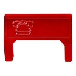 M60 Telephone Information Outlet Icon Insert, red