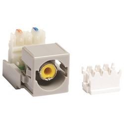 RCA / M81 110 Punchdown Module Audio et vidéo adaptateur, gris connecteur jaune de logement