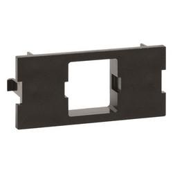 FP Type Single Port Adapter Housing, black