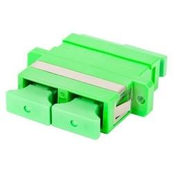 Adapter, Duplex, Fiber, TeraSPEED, SC-APC, Green, Single Pack