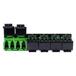 Adapter, Fiber, Multiport Shuttered, Teraspeed LC-APC, 10 Bulk Pack, Green Finish