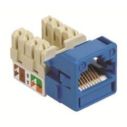 Category 5e Jack, UNJ500, U/UTP, Information Outlet, Blue