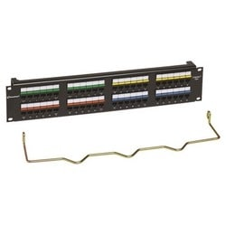 48-PORT PATCH PANEL CAT6 IP5 110-MODULAR BLACK, 2U CC0057604/1