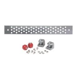 Galvanized steel ground Buss Bar, 1/4 in x 4 in x 24 in (6.4 mm x 101.6 mm x 609.8 mm)