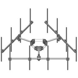 Monopole Co-location T-Frame Kit, 10 in to 30 in OD, 14 ft face, includes pipe