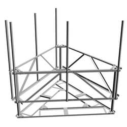Non-Penetrating Sled Kit for multi-sector roof frame