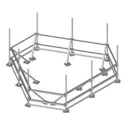 Water Tower Rooftop Assembly, 3-sector, 14 ft face, twelve 2-3/8 in OD x 96 in plain end pipes included