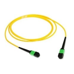MPOptimate Patch Cord 12F OS2MPO Fem To MPO Fem LSZH Yellowo.D. 3,2mm, 50M
