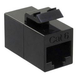 Coupler, Sl, Inline, CAT6Unshielded, 8 Positions Black
