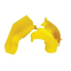 Side Drop Kit, Vertical to 50mm dia. Round Convoluted Tube, Yellow