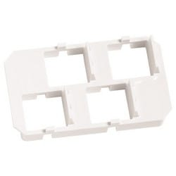Insert Panel for M40 Surface Mount Box, holds four RJ45 jacks, four M81 mounting modules