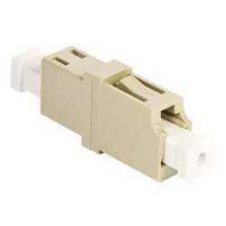 Adaptateur LC Simplex OptiSPEED, Beige, Single Pack