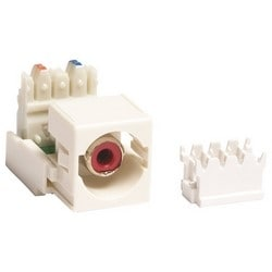 M81 RCA to 110 Punchdown Module Audio and Video Adapter, white housing red connector