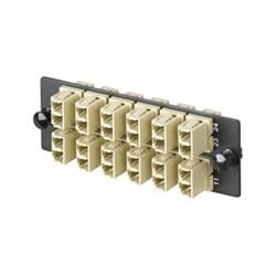 FAP With 6 OM2 LC Duplex, mm (Black) Adapters