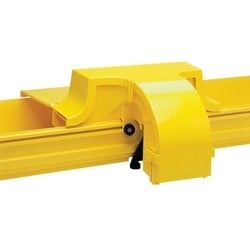 Express Exit base with base cover (100mm), yellow