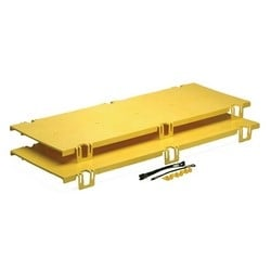 FiberGuide Fiber Management Systems; FiberGuide Product Line System: 4x12 System Cover Type: Straight Color: Yellow
