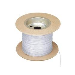 Câble blanc monomode 900µm, adhésif thermique enduits système fibre (TAC), adhésif Hotmelt Coat, 100 pi bobine