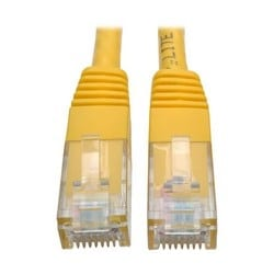 Premium Cat5/5e/6 Gigabit Molded Patch Cable, 24 AWG, 550 MHz/1 Gbps (RJ45 M/M), Yellow, 20 ft.