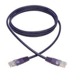 Cat5e 350 MHz Molded UTP Patch Cable (RJ45 M/M), Purple, 6 ft.