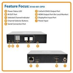 DisplayPort Over IP Transmitter Extender RS-232 & IR Control