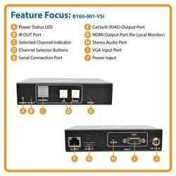 VGA Over IP Transmitter/ Extender w/ RS-232 Serial, IR Cntrl