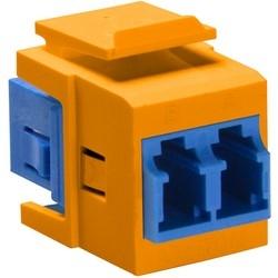 QuickPort Duplex LC, SM, zircone céramique manchon, bleu/orange