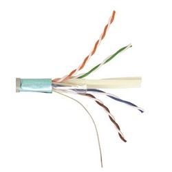 CS44R ETL Verified Category 6A F/UTP Cable, non-plenum, yellow jacket, 4 pair count, 1000 ft (305 m) length reel