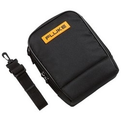 """Testing Instrument Carrying Case, Soft, 8"""" Width x 3"""" Depth x 9.5"""" Height, Durable Polyester, Black/Yellow, For Digital Multimeter, 60 Series IR Thermometer"""